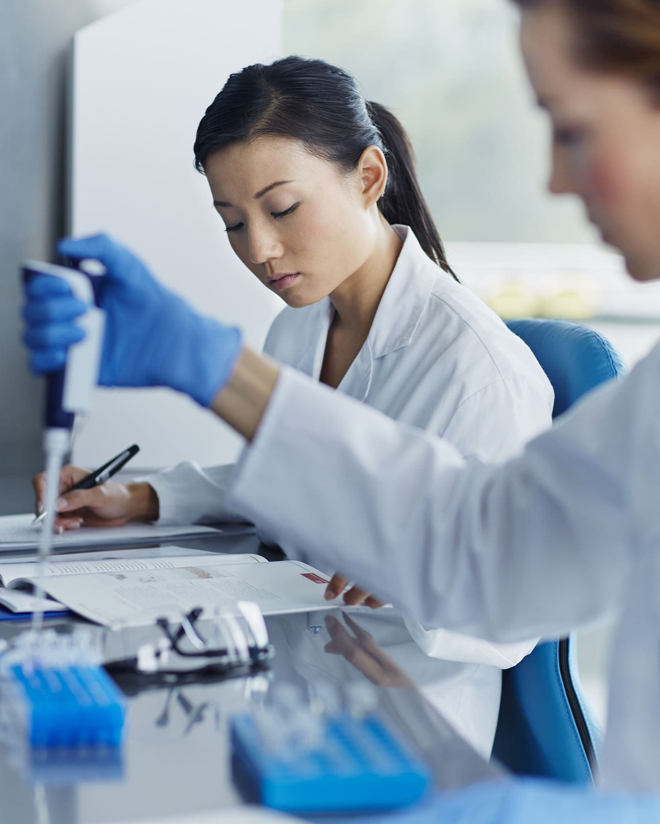 laboratory workers running tests image