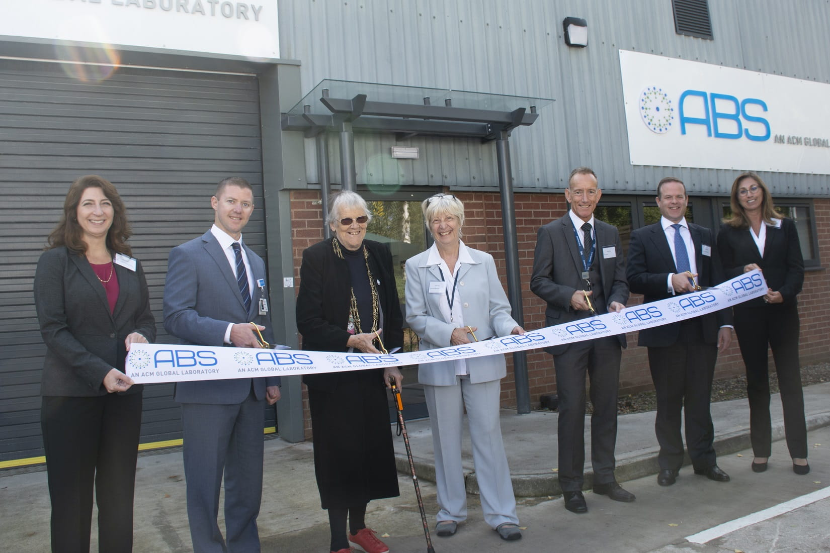 Ribbon Cutting of ABS Laboratories in York